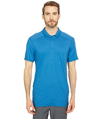 Smartwool Merino Sport 150 Polo (Light Neptune Blue Heather) Men