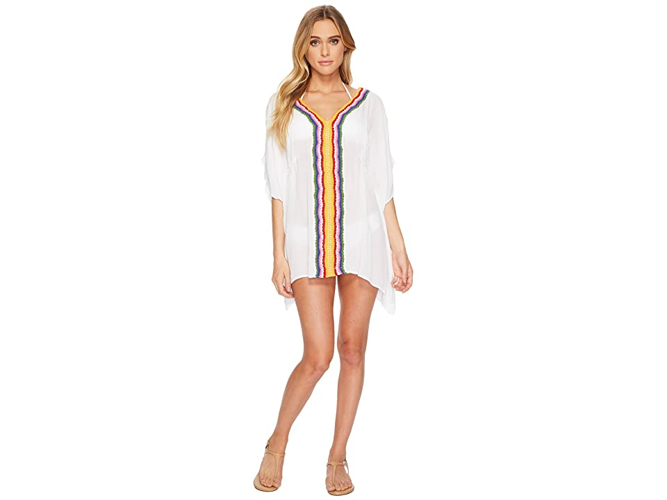 Nanette Lepore Peace Love Caftan Cover-Up (White) Women