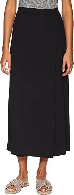 Viscose Jersey Faux Wrap Ankle Pants