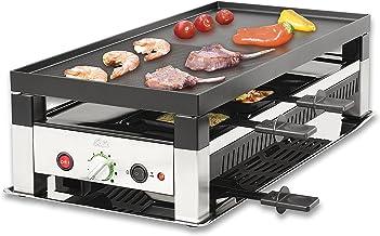 Solis 5 in 1 Table Grill 791 Appareil a Raclette - Raclette, Table grill, Wok, Crêpes et Pizza - Grill Electrique - Ensemb...