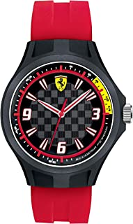 Ferrari Scuderia Pit Crew Men's Black Dial Silicone Band Watch - 830282