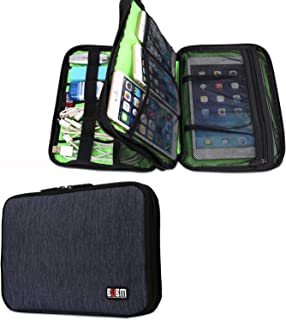 Electronics Travel Organizer Bag BUBM Accessories Cable Cord Gadgets Gear Storage Case for IPad Mini-Blue