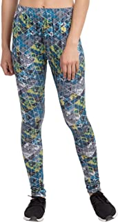 American-Elm Women's V-Cut Printed Stretchable Lycra Churidar Leggings/Yoga Pants