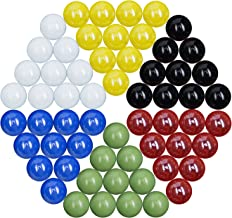 Elongdi Glass Marbles for Chinese Checkers, Set of 60 Chinese Checkers Marbles 16mm, 10 of Each Color with Potable Container, for Marble Run, Marbles Game, Chinese Checkers