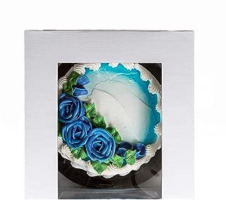 White Bakery Box with Window 10 x 10 x 5