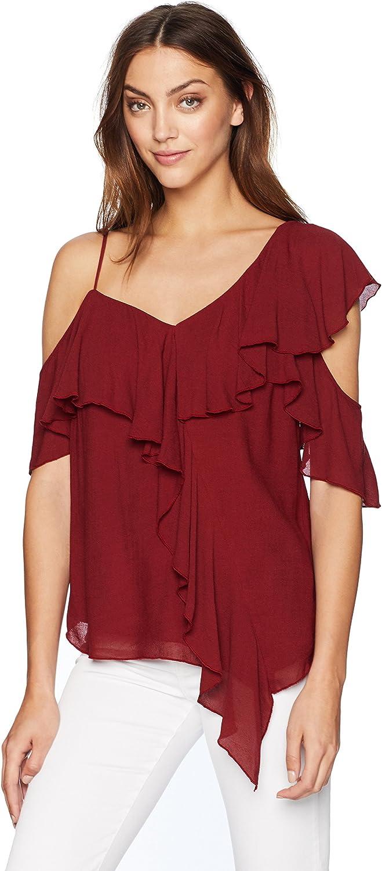 Bailey 44 Womens Ginger Ruffle Sleeve Blouse Shirt