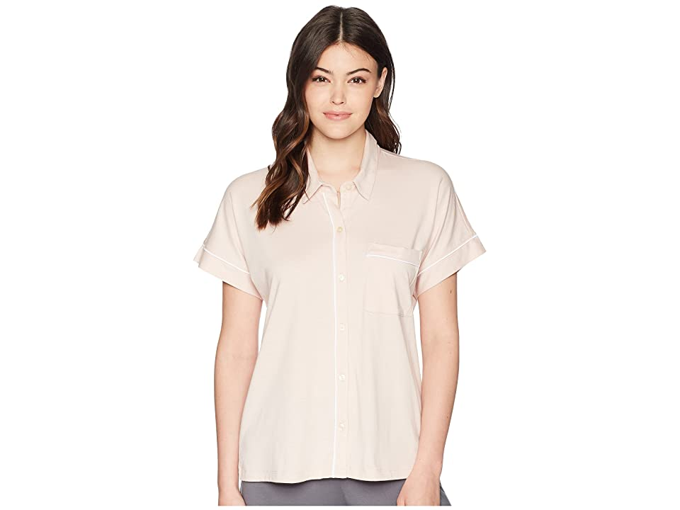 Skin Harlow Pajama Top (Cafe Creme/White) Women