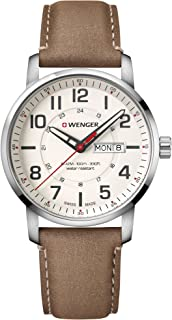 Men's Sport Stainless Steel Swiss-Quartz Watch with Leather Strap, Brown, 22 (Model: 01.1541.103)