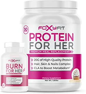 Burn for Her and Protein for Her (Vanilla Cupcake) by Foxy Fit Weight Loss & Muscle Building Bundle
