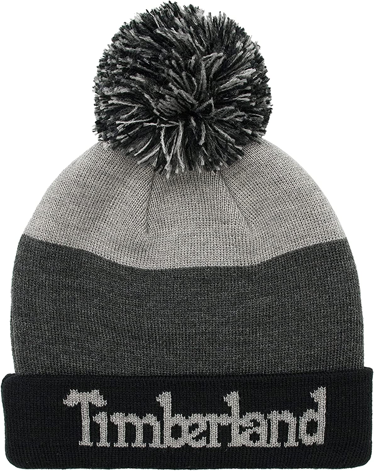 Timberland Boys' Logo Pom Hat with Woven Label