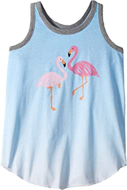 Chaser Kids - Vintage Jersey Flamingos Tank Top (Little Kids/Big Kids)