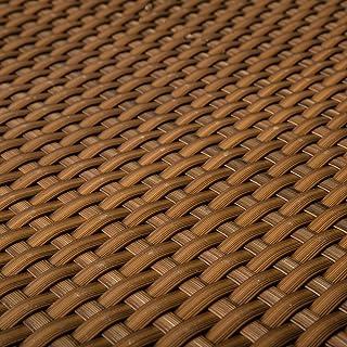 PE Rattan Terrassen Sichtschutz Balkonbespannung Cognac 09m Breit Meterware