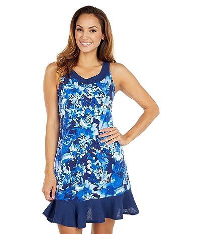 Tommy Bahama Fresco Floral Short Dress Sleeveless