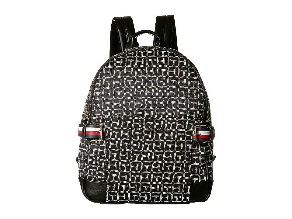 Tommy Hilfiger Meriden Backpack (Black/White) Backpack Bags