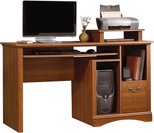 Sauder 101730 Camden County Computer Desk L 53 54 X W 20 28 X H 34 57 Planked Cherry Finish