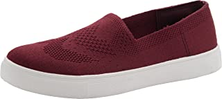Cambridge Select Women's Slip-On Closed Round Toe Lightweight Breathable Mesh Stretch Fashion Sneaker