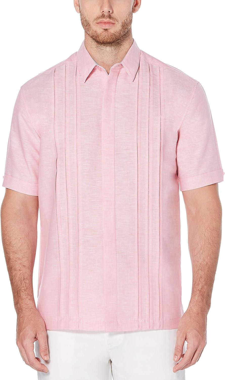 Cubavera Men's Big & Tall Short Sleeve Multiple Tuck Shirt