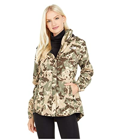 The North Face Resolve Parka II (Burnt Olive Green Digi Topo Print) Women