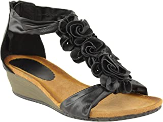 Fashion Thirsty Womens Summer Sandals Strappy Flower Low Heel Flat Wedge Shoes