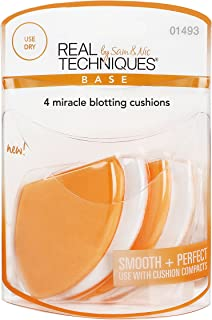 Real Techniques 4 Miracle Blotting Cushions - 1493, Pack of 1