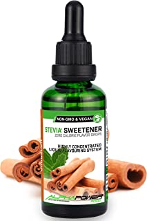 comprar comparacion ALPHA POWER FOOD®: Stevia líquida natural - Stevia Gotas de canela, Edulcorante natural, sustituto del azúcar con sabor - ...