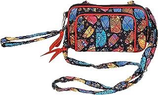 Laurel Burch Quilted Cotton All in 1 Wallet Organizer Wristlet Crossbody Bag