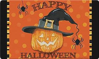 """Toland Home Garden 800264 Witch Pumpkin 18 x 30 Inch Decorative, 18"""" x 30"""", Doormat"""
