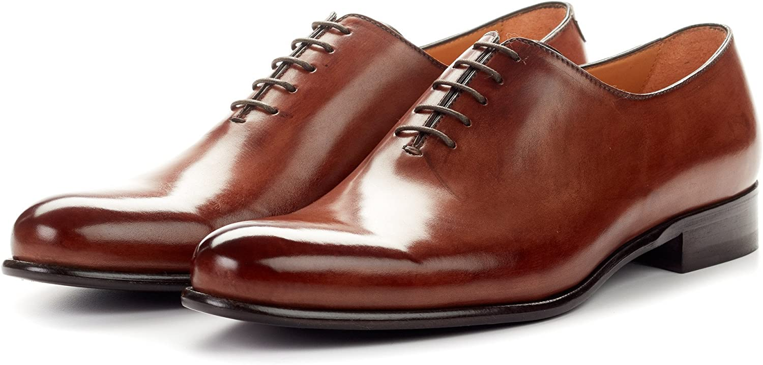 Men's Martin Wholecut Oxford Dress Shoes Italian Calfskin Leath Large special 2021 price