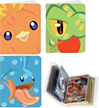 Totem World 3 Mini Album for Pokemon Cards - Each Mini Binder Album Holds 60 Cards - Top Load Sleeves Included - Protect Your Deck in Style - Inspired by Treecko, Torchic, and Mudkip