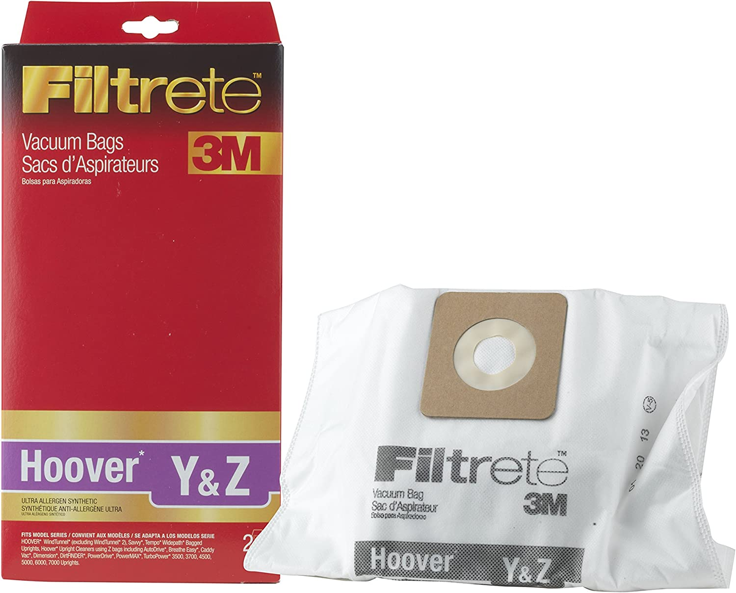3M Filtrete Hoover Y Z Synthetic Bag Ultra Allergen Vacuum Max 68% OFF Lowest price challenge