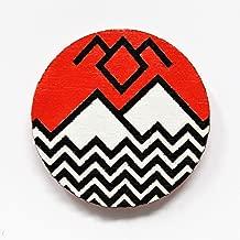 Twin Peaks Black Lodge Pin | Minimalist Design Black Lodge Natural Wood Brooch