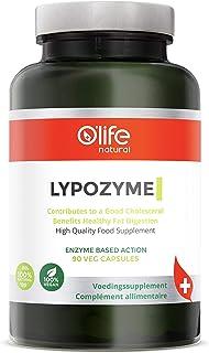 LYPOZYME, Enzimas Digestivas de alta Calidad, 90 cápsulas veganas, Para el colesterol bueno y una saludable digestión de grasas. (Lipasa + Amilasa + Proteasa)