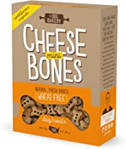 The Dog Bakery Wheat Free Bones Natural Made in the USA Healthy Dogs Treat Biscuits Bone Shaped Treats Original and Mini Great For Training small medium large made real peanut butter cheese (assorted)