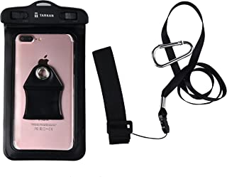 Tarkan IPx8 100% Waterproof Universal Pouch Cover for All Mobile Phones (6.5 inch) (Black)