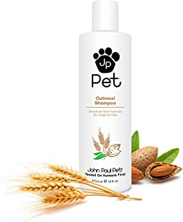 John Paul Pet Oatmeal Shampoo for Dogs and Cats, Sensitive Skin Formula Soothes and..