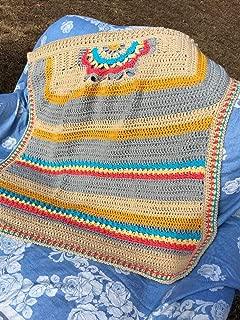 Handmade Medallion Baby Afghan Blanket