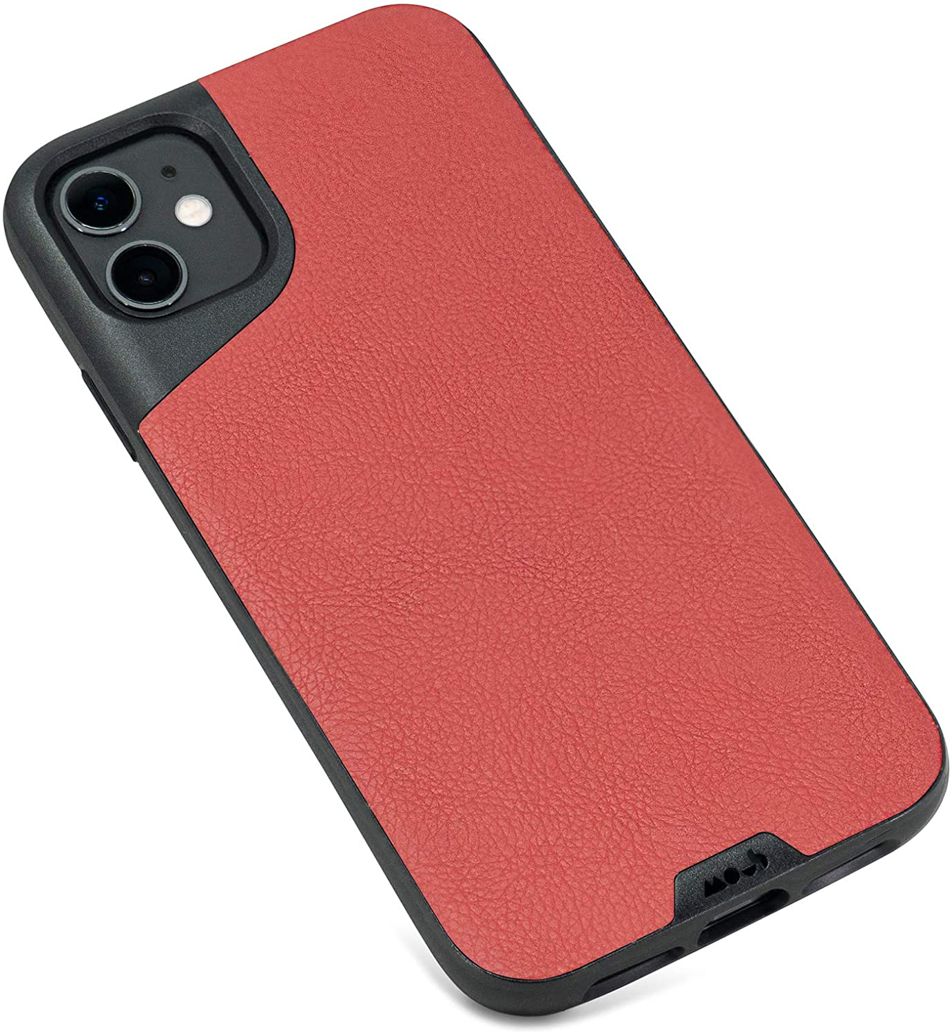 Mous - Protective Case for iPhone 11 - Contour - Red Leather - No Screen Protector