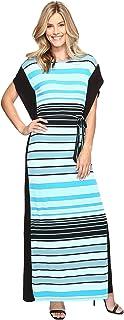 [マイケル マイケルコース] MICHAEL Michael Kors レディース Abbey Stripe Maxi Dress ドレス Dark Peacock SM [並行輸入品]