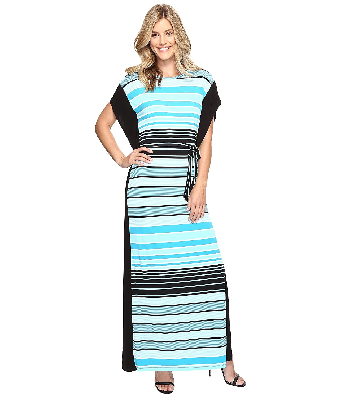 [マイケル マイケルコース] MICHAEL Michael Kors レディース Abbey Stripe Maxi Dress ドレス Dark Peacock XL [並行輸入品]