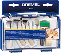 Dremel 684-01 20-Piece Cleaning & Polishing Rotary Tool Accessory Kit with Case- Includes Buffing Wheels, Polishing Bits, ...