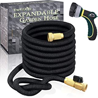 TheFitLife Flexible and Expandable Garden Hose – Strongest Triple Latex Core with..