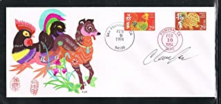 1993-1994 First USA Lunar New Year Greeting Cover. Real Handmade Paper-Cut Hand Mounted on the Cover. Stamps Canceled With The Last Day of Lunar Calendar for Year of the Rooster 1993 in San Francisco Because the Rooster Stamp was Released there and The First Day of the Lunar Calendar for the Year of The Dog 1994 Canceled in Pomona Because the Dog Stamp was Issued There! AUTOGRAPHED By Clarence Lee-Very Special - Limited Edition
