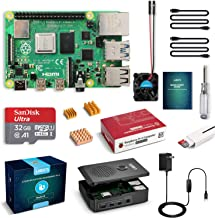 LABISTS Raspberry Pi 4 4GB Starter Kit with 32GB Micro SD Card Preloaded Raspberry Pi OS (Raspbian), Black Case, Heatsinks...