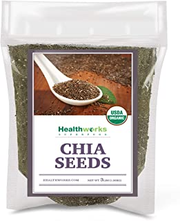 Healthworks Chia Seeds Organic Raw (48 Ounces / 3 Pounds) | Certified Organic, Premium & All-Natural | Contains Omega 3, F...