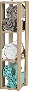 IRIS USA, OWR-200N, 3-Shelf Space Saving Slim Open Wood Shelving Unit, Light Brown, 1 Pack