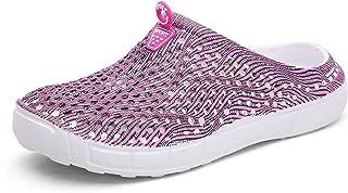 LIBINXIF Women Garden Clog Shoes Mesh Summer Breathable Slippers Beach Sandals Shower Footwear Water Shoes Walking Anti-Slip Shoes