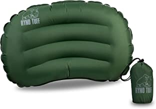 Ryno Tuff Sleeping Pad for Camping Ultralight - with Free Bonus Camping Pillow, The Inflatable Camping Mattress is Large W...
