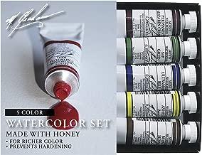 M. Graham 33-Set 1/2-Ounce Tube Watercolor Paint Basic 5-Color Set