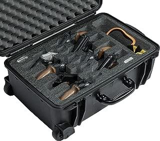 Case Club Waterproof 8 Revolver/Semi-Auto Case with Accessory Pocket & Silica Gel to Help Prevent Gun Rust