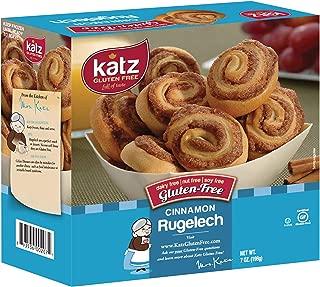 Katz Gluten Free Cinnamon Rugelach | Dairy, Nut, Soy and Gluten Free | Kosher (7 Ounce, 1 Pack of 8 Rugelach)